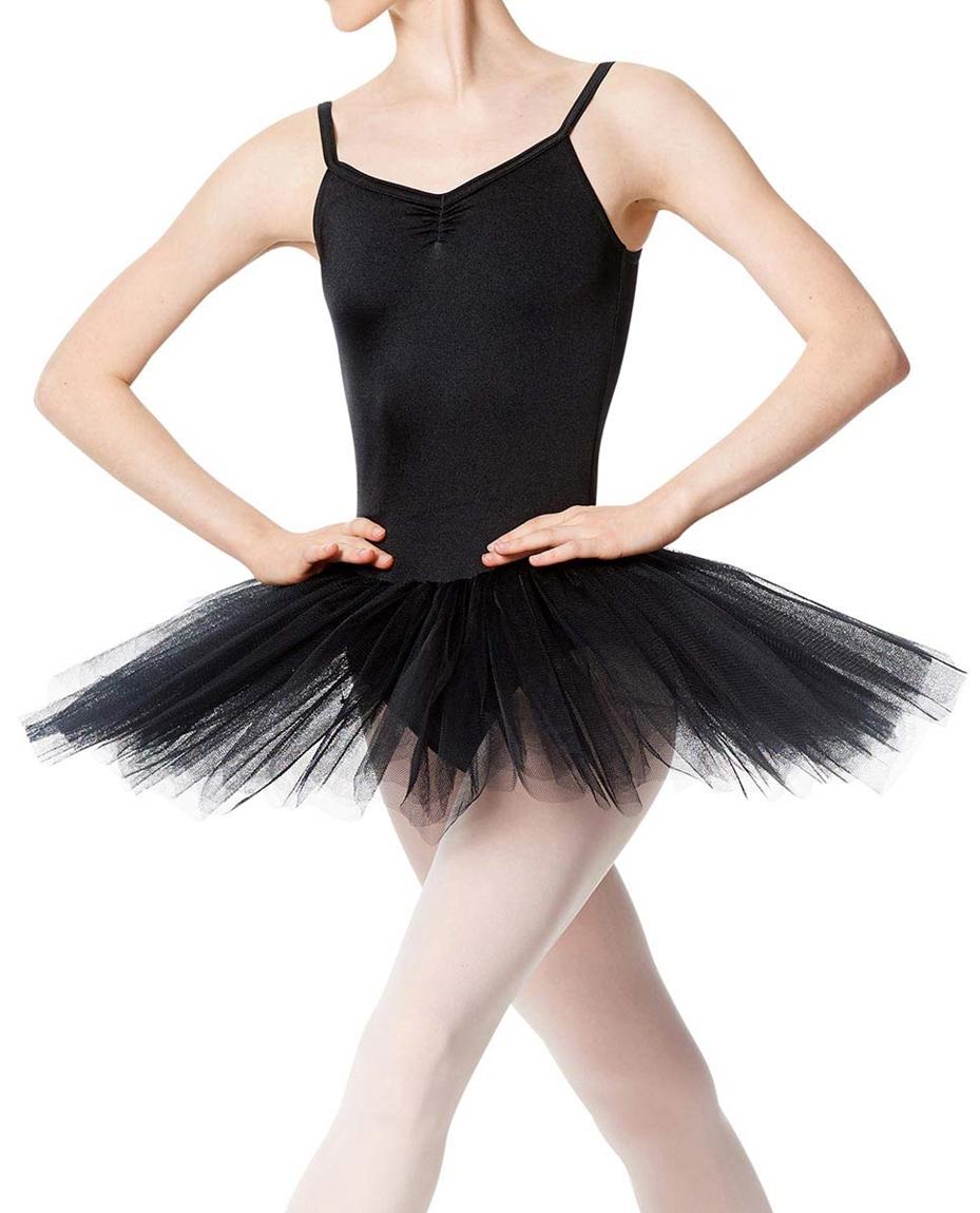 Adult Practice 4 Layers Tutu Dress BLK