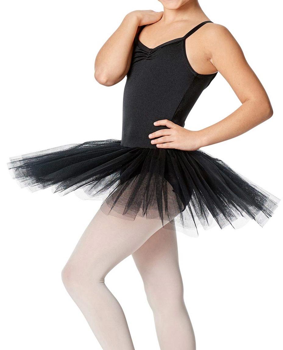 Girls Practice 4 Layers Tutu Dress BLK