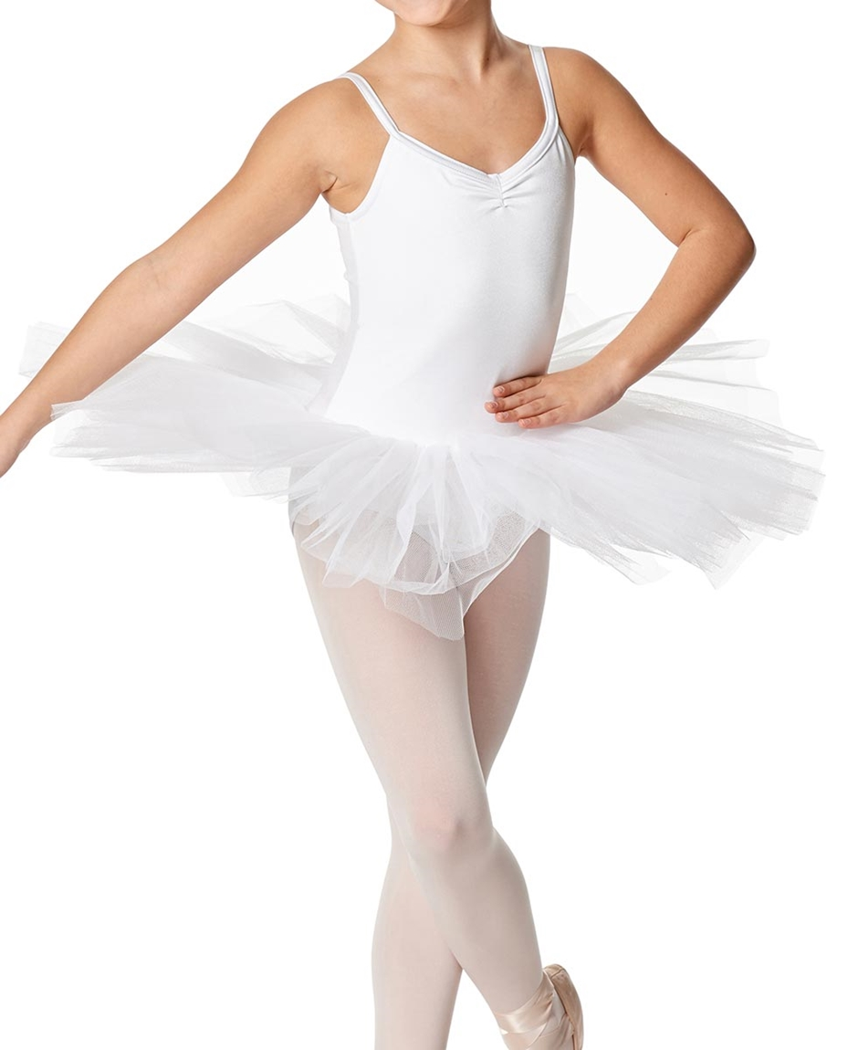 Girls Practice 4 Layers Tutu Dress WHI