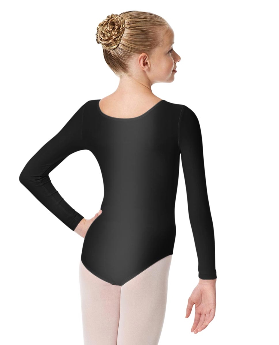 Girls Shiny Long Sleeve Dance Leotard Kasia 2-