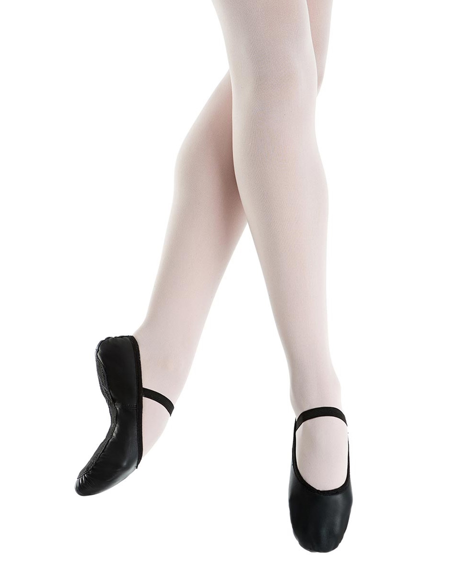 Beginner Full-Sole Leather Ballet Slippers blk-beginner-fullsole-leather-ballet-slippers