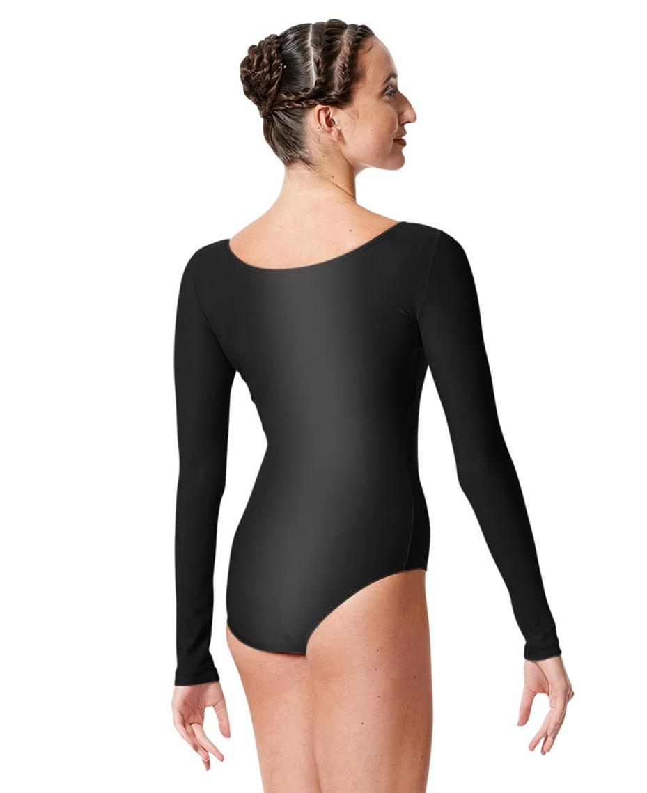 Womens Shiny Long Sleeve Dance Leotard Kasia 2-womens-shiny-long-sleeve-dance-leotard-kasia