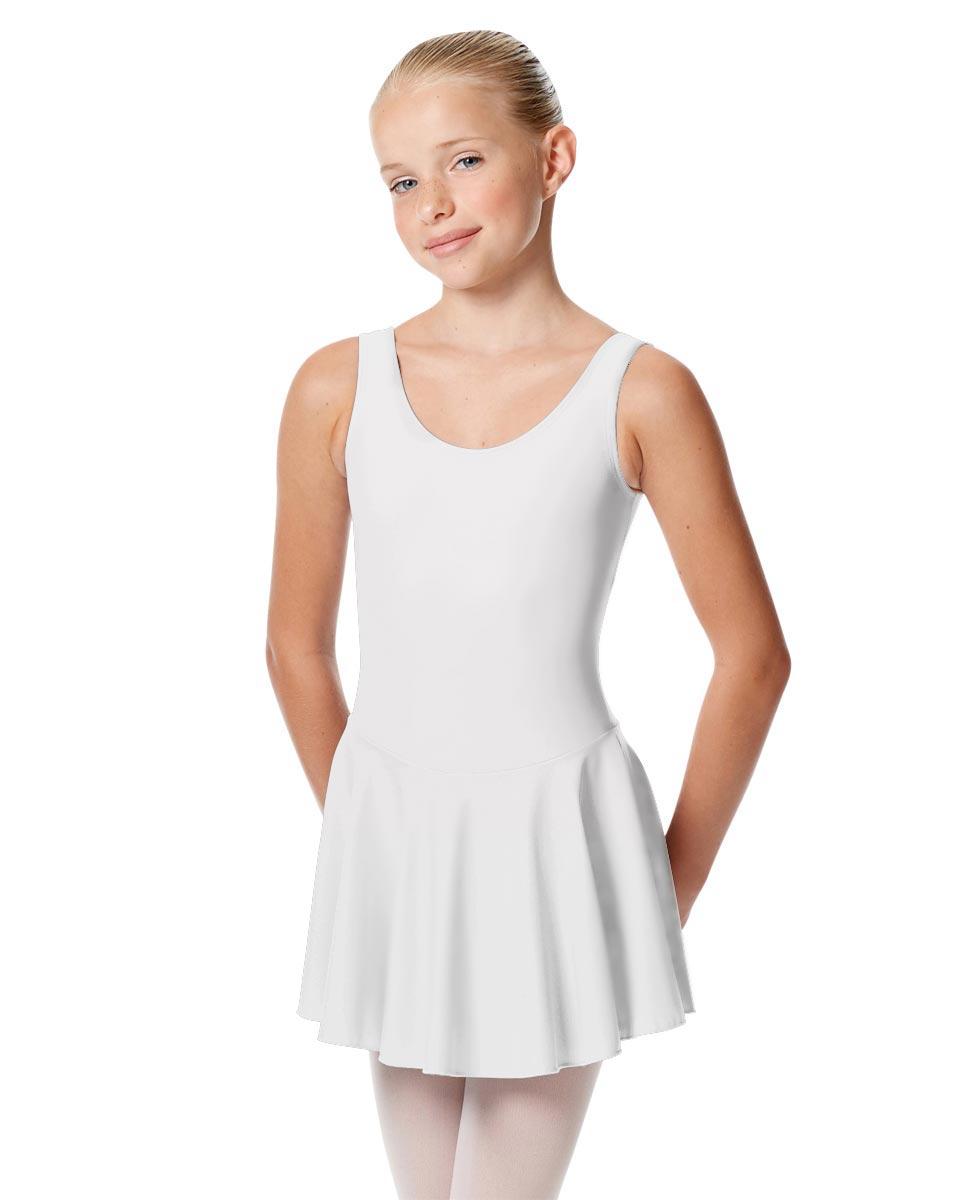 Child Skirted Ballet Tank Leotard Yasmin WHI