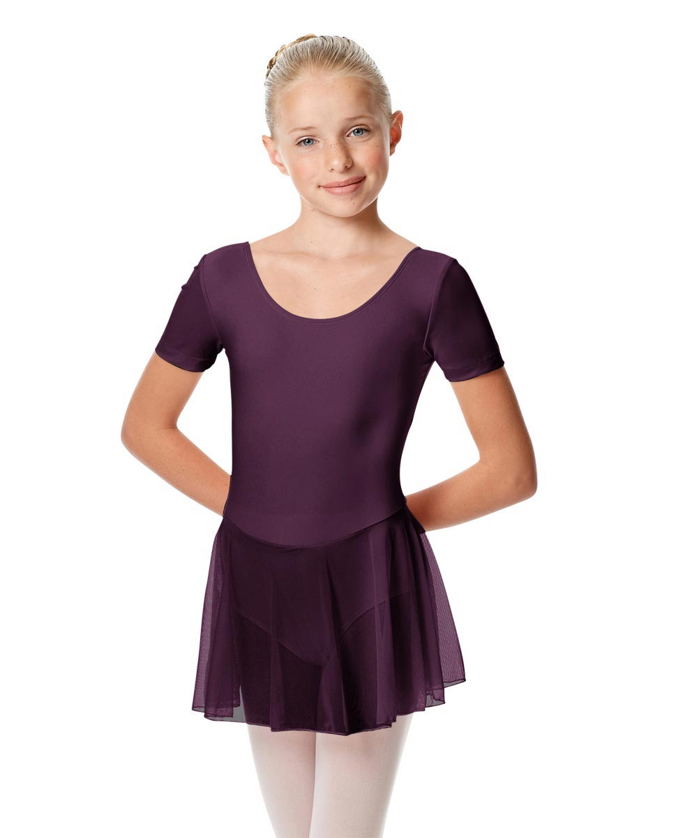 Child Short Sleeve Skirted Ballet Leotard Nelly AUB