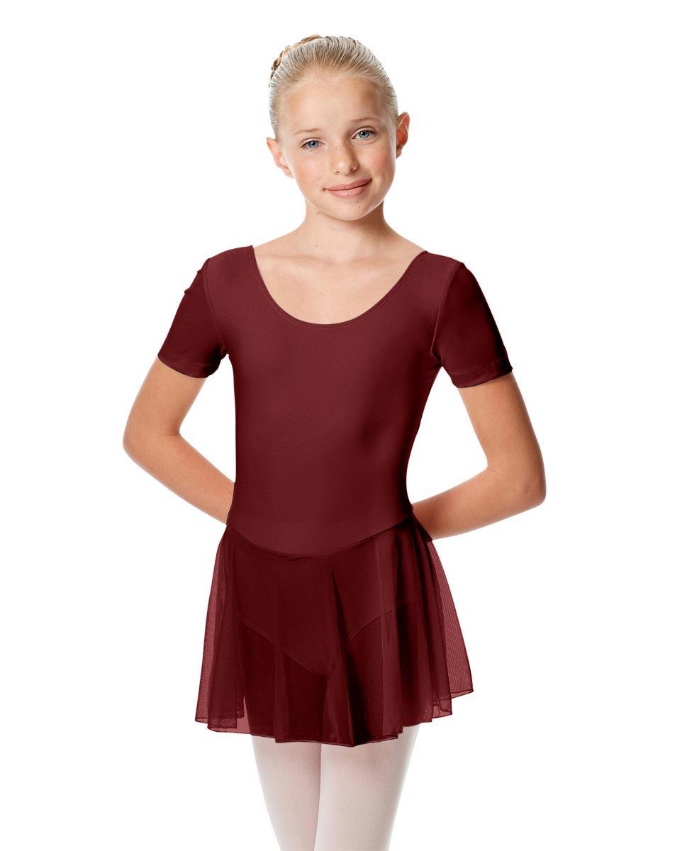 Child Short Sleeve Skirted Ballet Leotard Nelly BUR