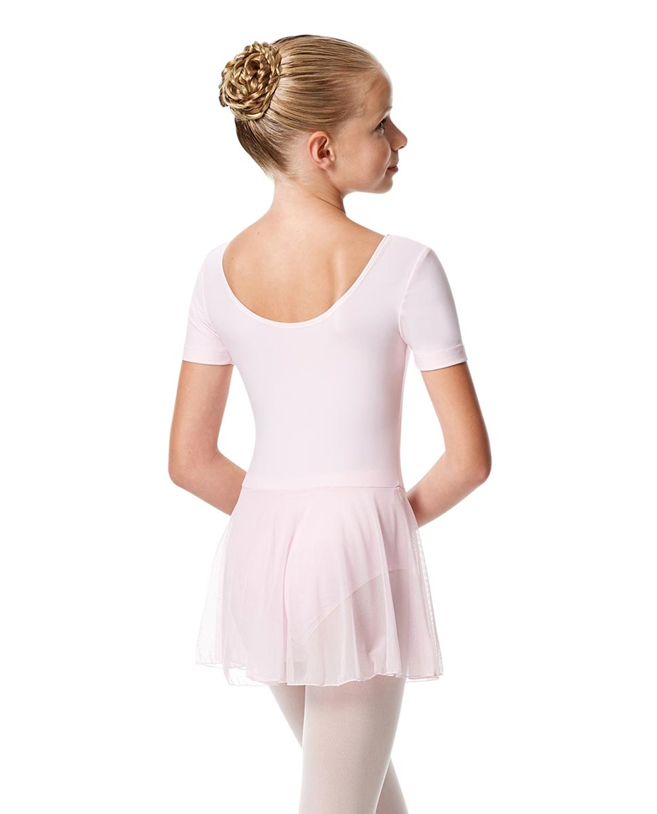 Child Short Sleeve Skirted Ballet Leotard Nelly back-child-short-sleeve-skirted-ballet-leotard-nelly