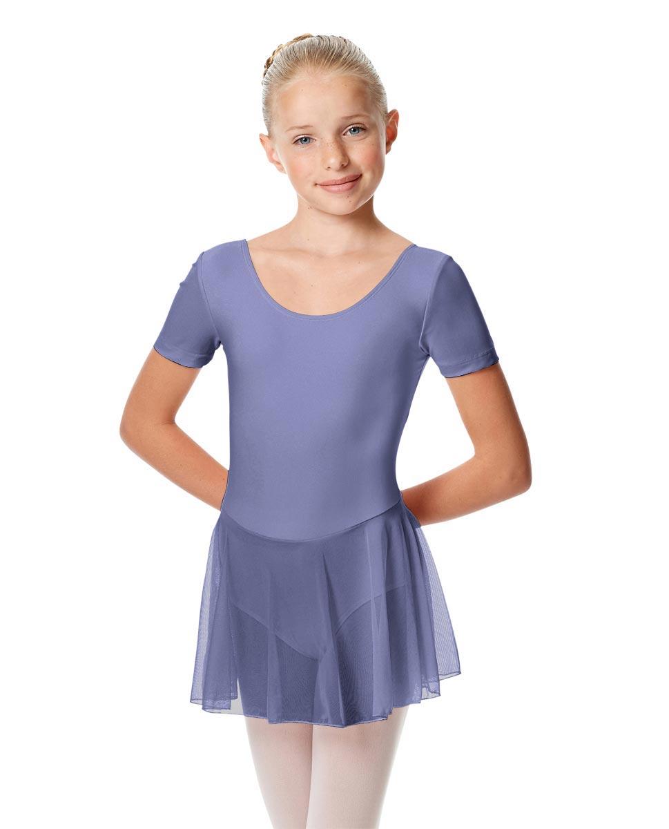 Child Short Sleeve Skirted Ballet Leotard Nelly BLB