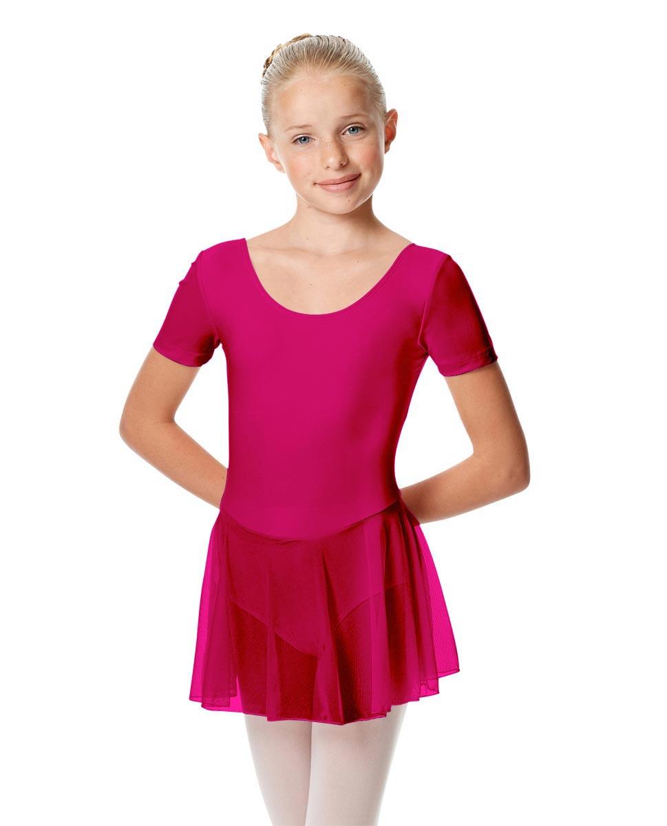 Child Short Sleeve Skirted Ballet Leotard Nelly MUL