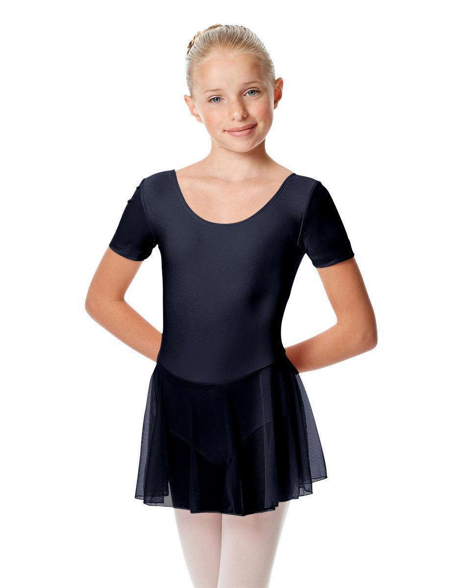 Child Short Sleeve Skirted Ballet Leotard Nelly NAY