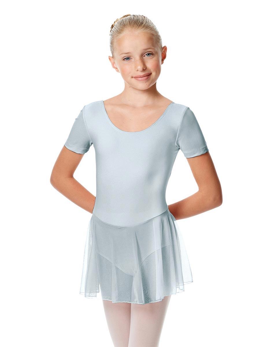 Child Short Sleeve Skirted Ballet Leotard Nelly SKY
