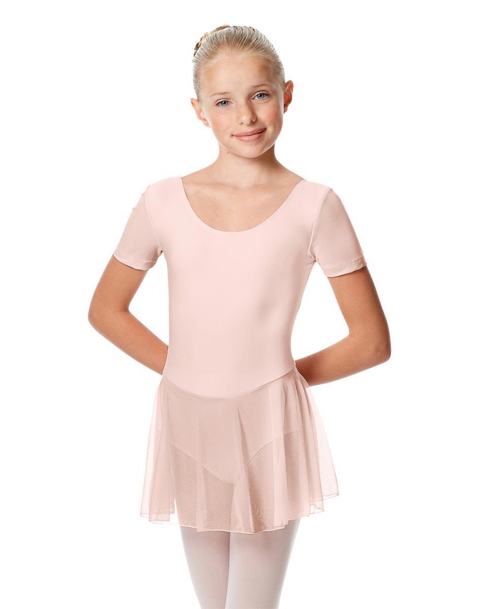 Child Short Sleeve Skirted Ballet Leotard Nelly PNK