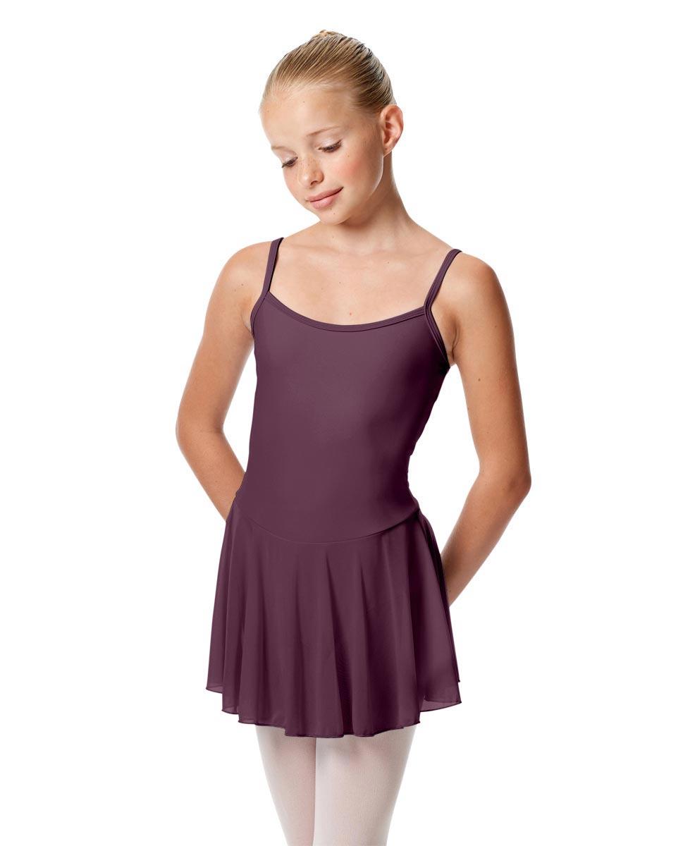 Girls Camisole Mesh Skirted Ballet Leotard Bianca AUB