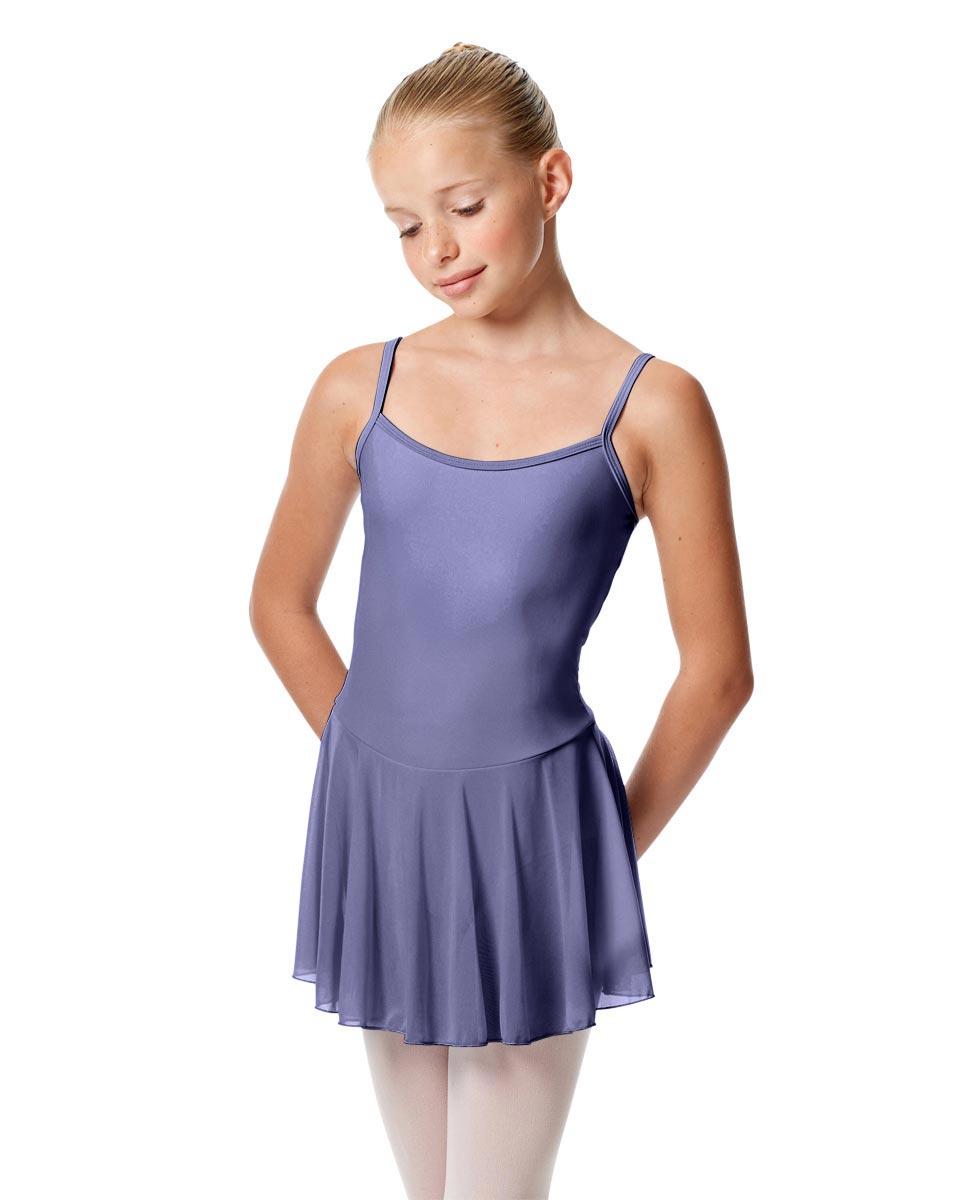 Girls Camisole Mesh Skirted Ballet Leotard Bianca BLB