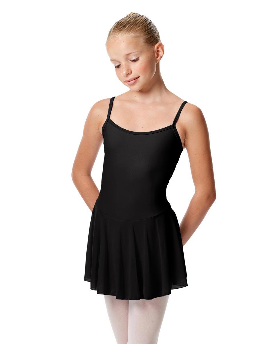 Girls Camisole Mesh Skirted Ballet Leotard Bianca BLK