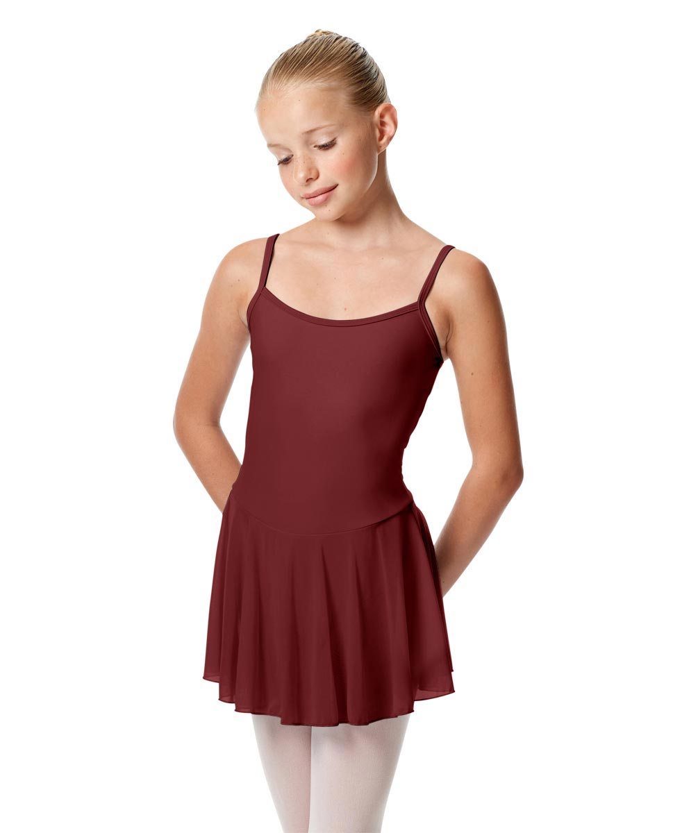 Girls Camisole Mesh Skirted Ballet Leotard Bianca BUR