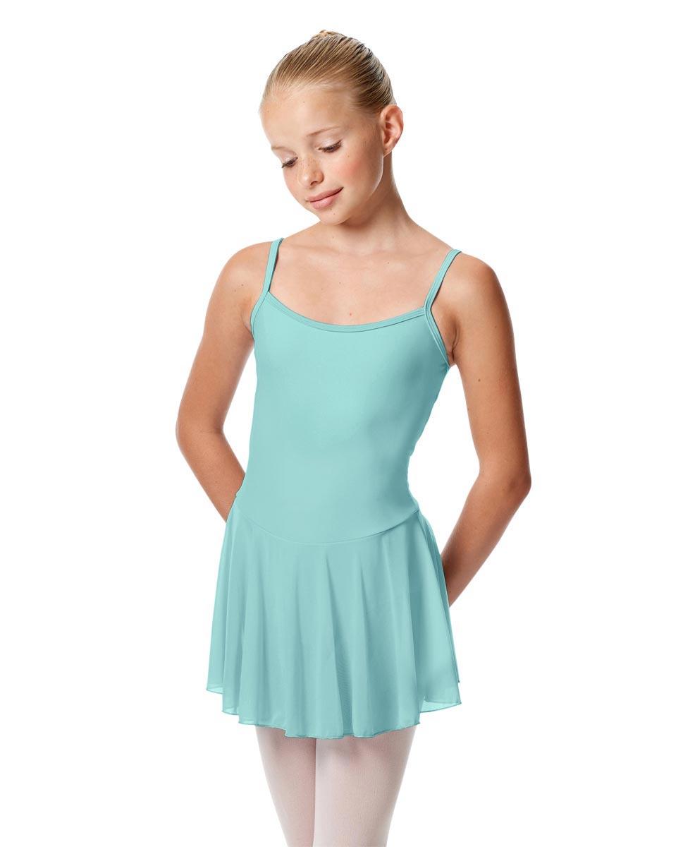 Girls Camisole Mesh Skirted Ballet Leotard Bianca CYB