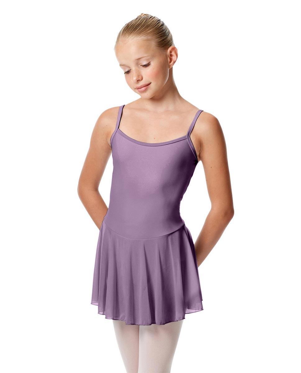 Girls Camisole Mesh Skirted Ballet Leotard Bianca LAV