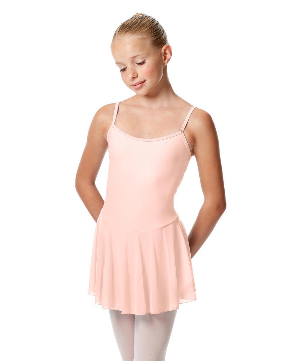 Girls Camisole Mesh Skirted Ballet Leotard Bianca PNK