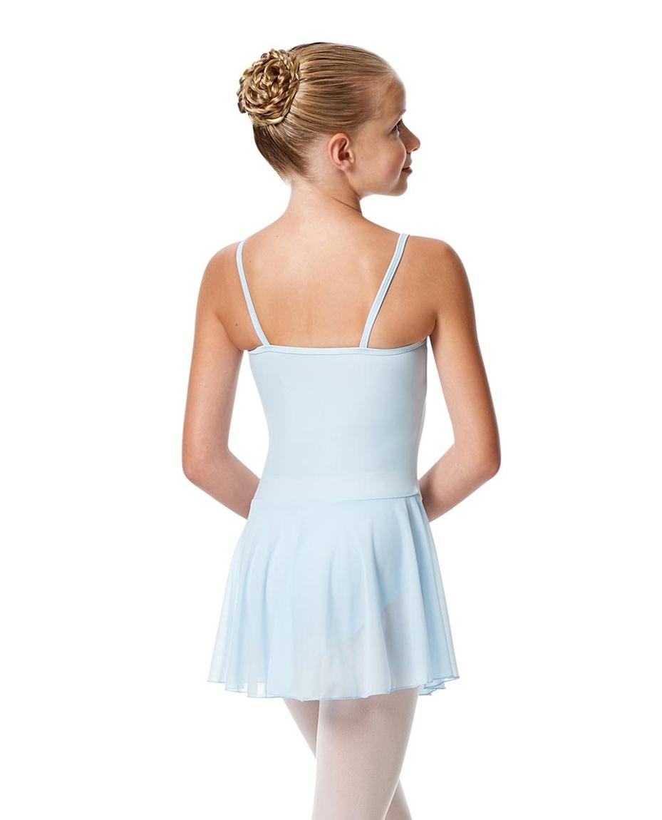 Girls Camisole Mesh Skirted Ballet Leotard Bianca back-girls-camisole-mesh-skirted-ballet-leotard-bianca