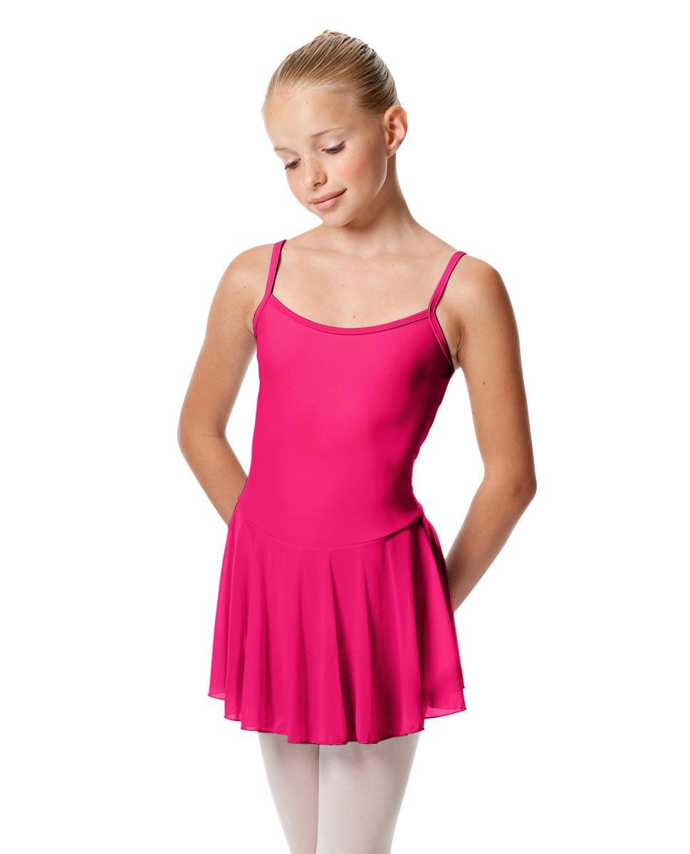Girls Camisole Mesh Skirted Ballet Leotard Bianca MUL