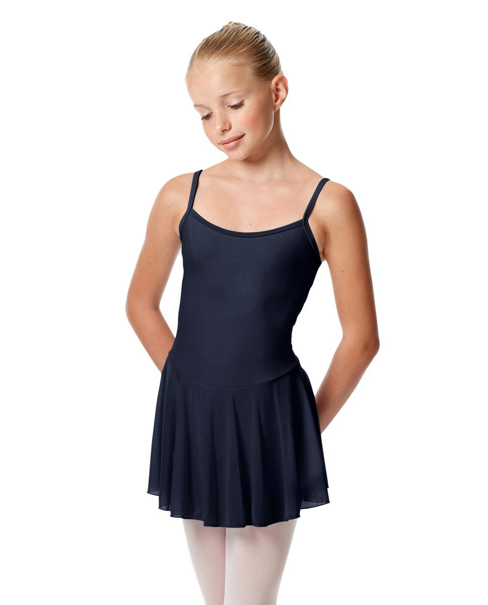 Girls Camisole Mesh Skirted Ballet Leotard Bianca NAY