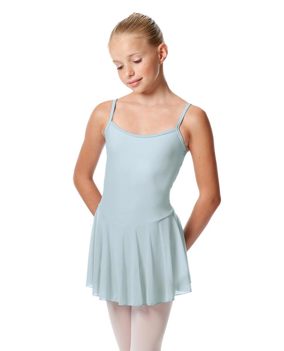 Girls Camisole Mesh Skirted Ballet Leotard Bianca SKY