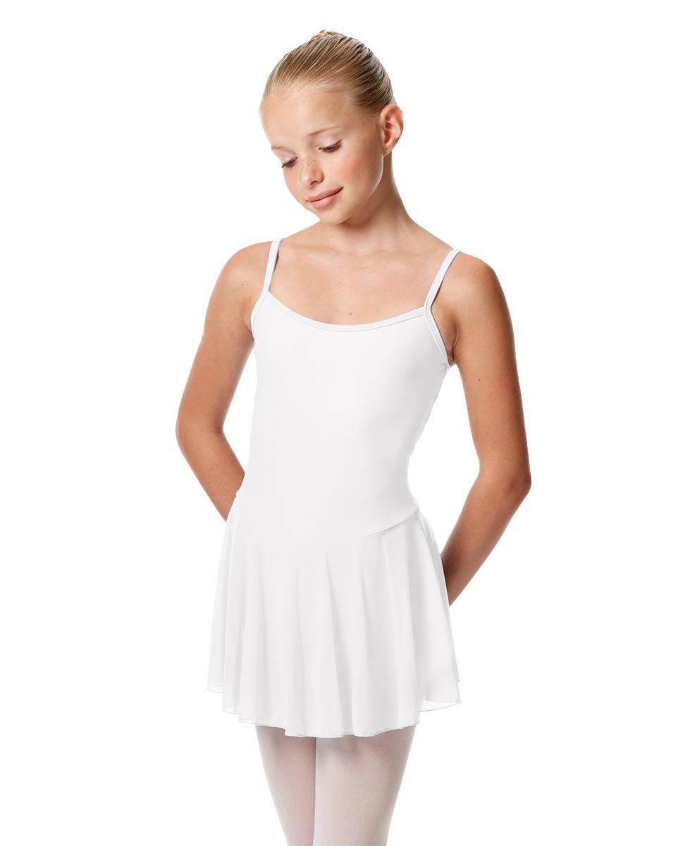 Girls Camisole Mesh Skirted Ballet Leotard Bianca WHI