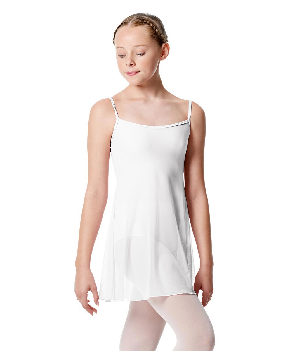 Girls Camisole Short Ballet Dress Danielle WHI