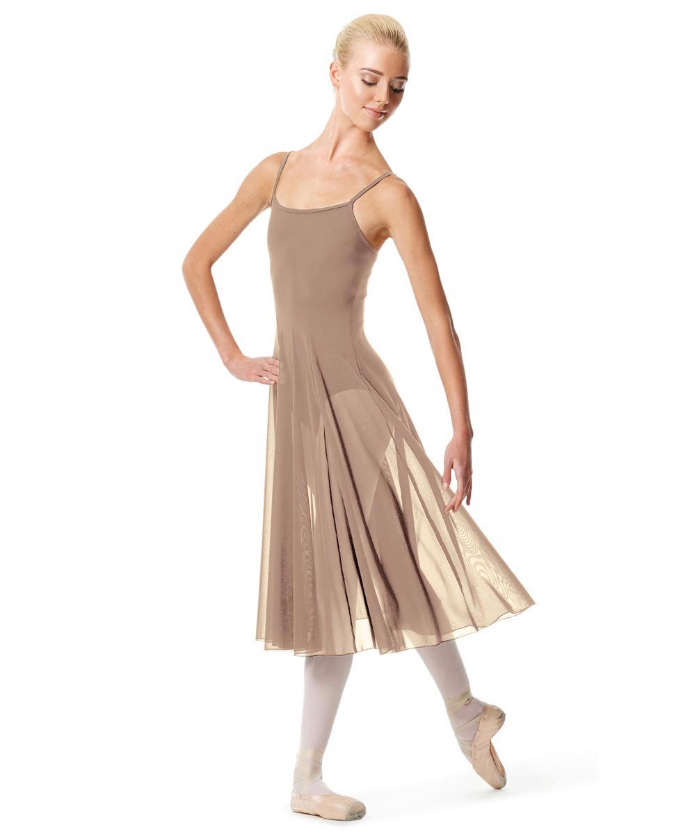 Womens Camisole Long Dance Dress Leily NUD