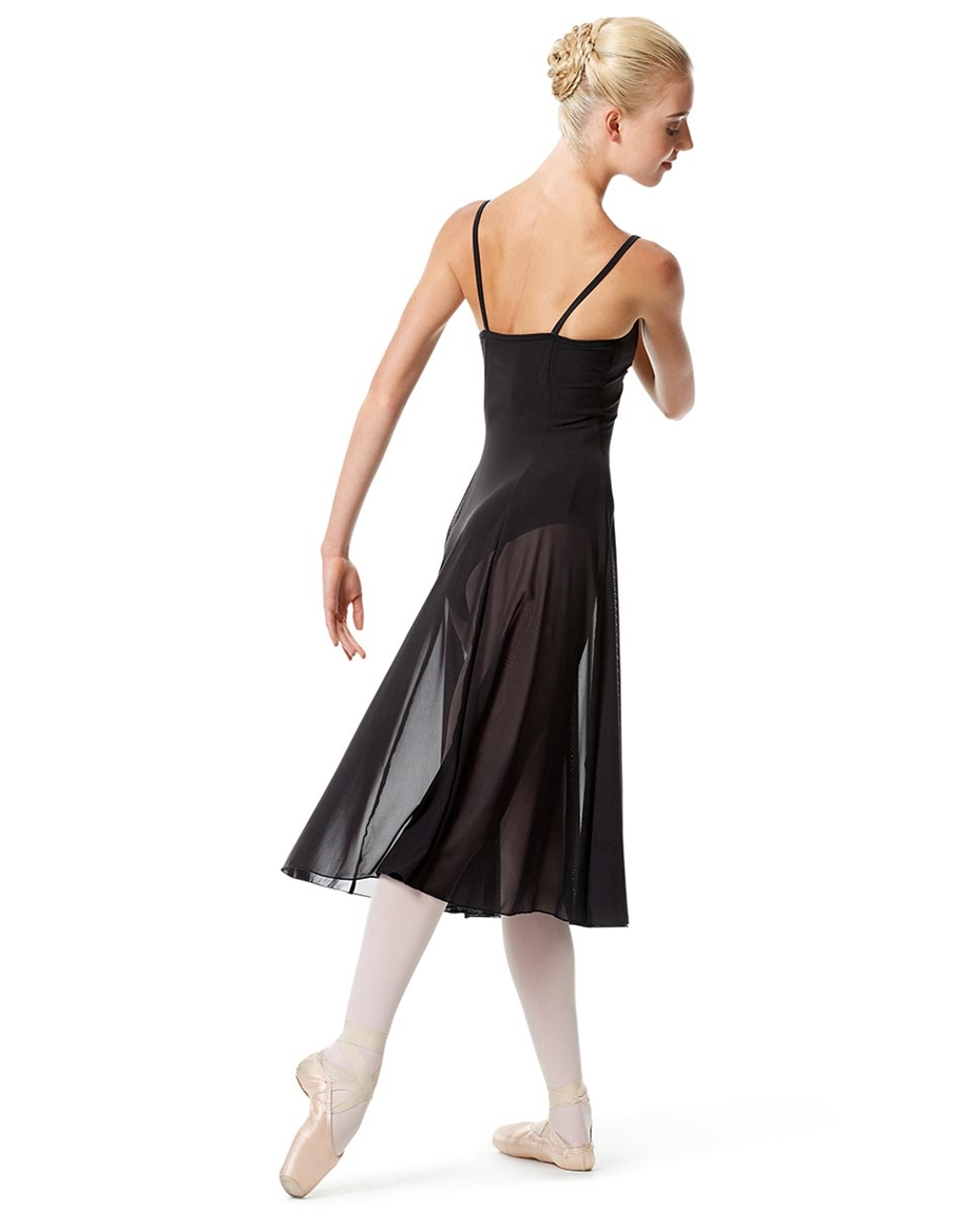 Womens Camisole Long Dance Dress Leily back-womens-camisole-long-dance-dress-leily