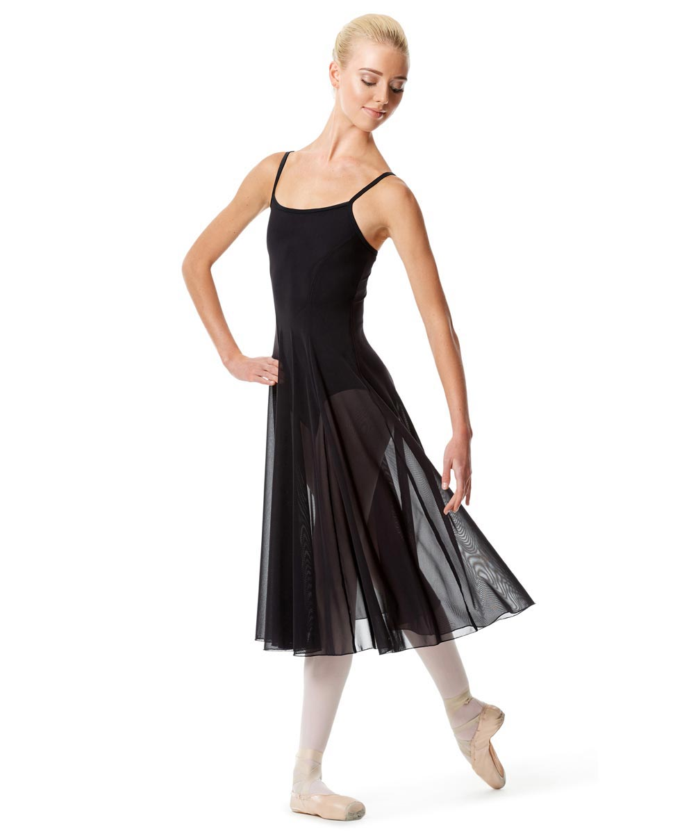 Womens Camisole Long Dance Dress Leily BLK