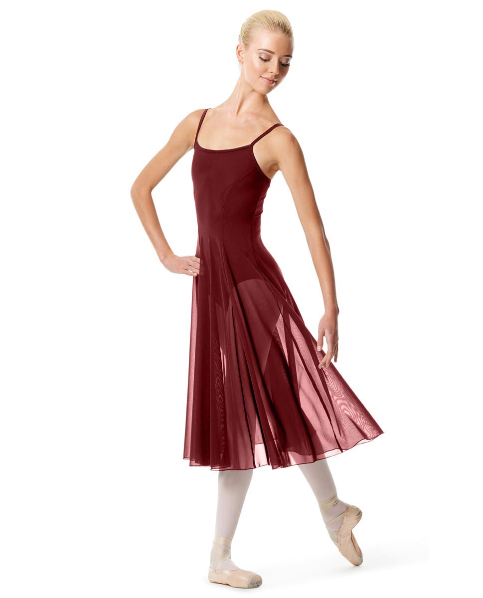 Womens Camisole Long Dance Dress Leily BUR