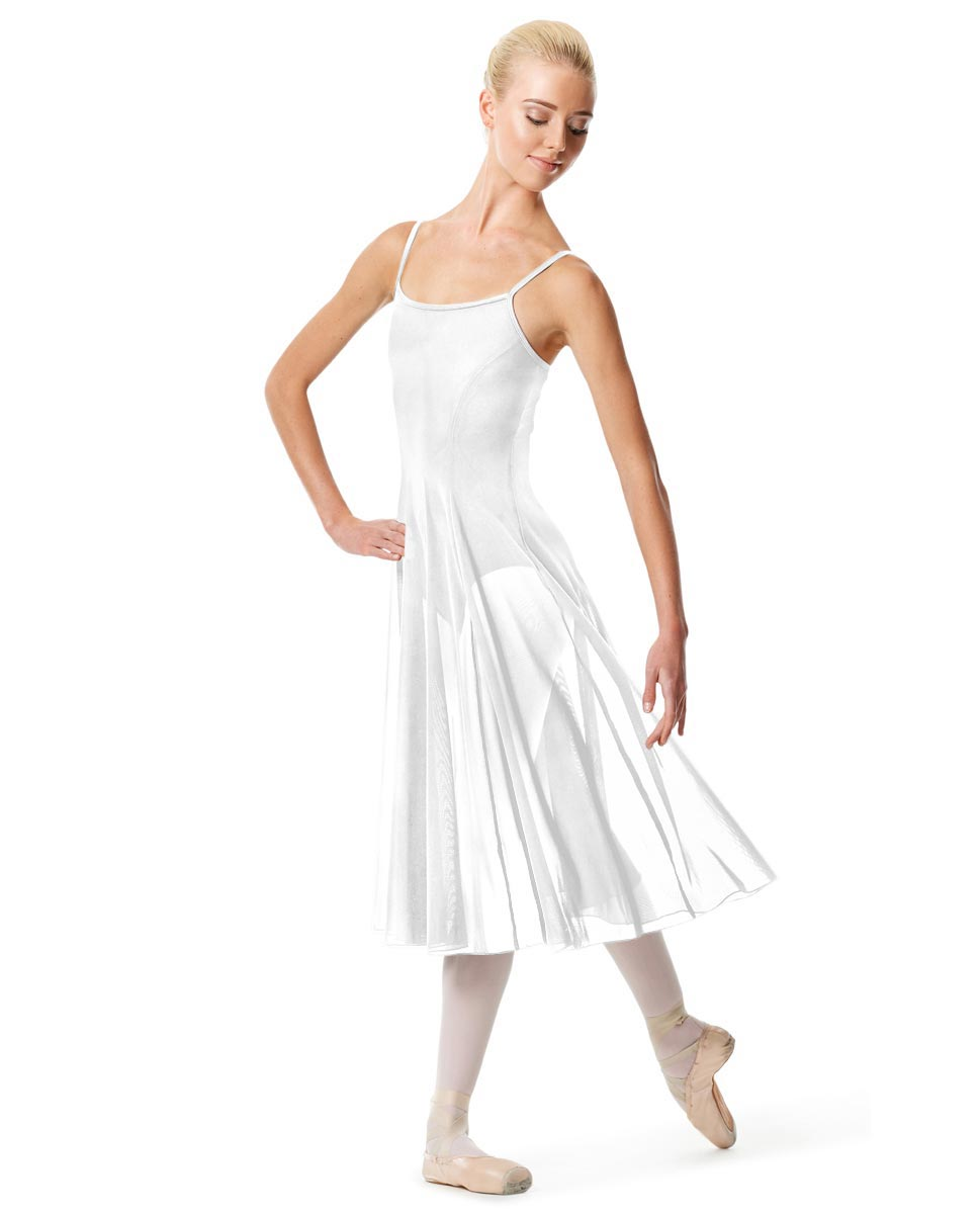 Womens Camisole Long Dance Dress Leily WHI