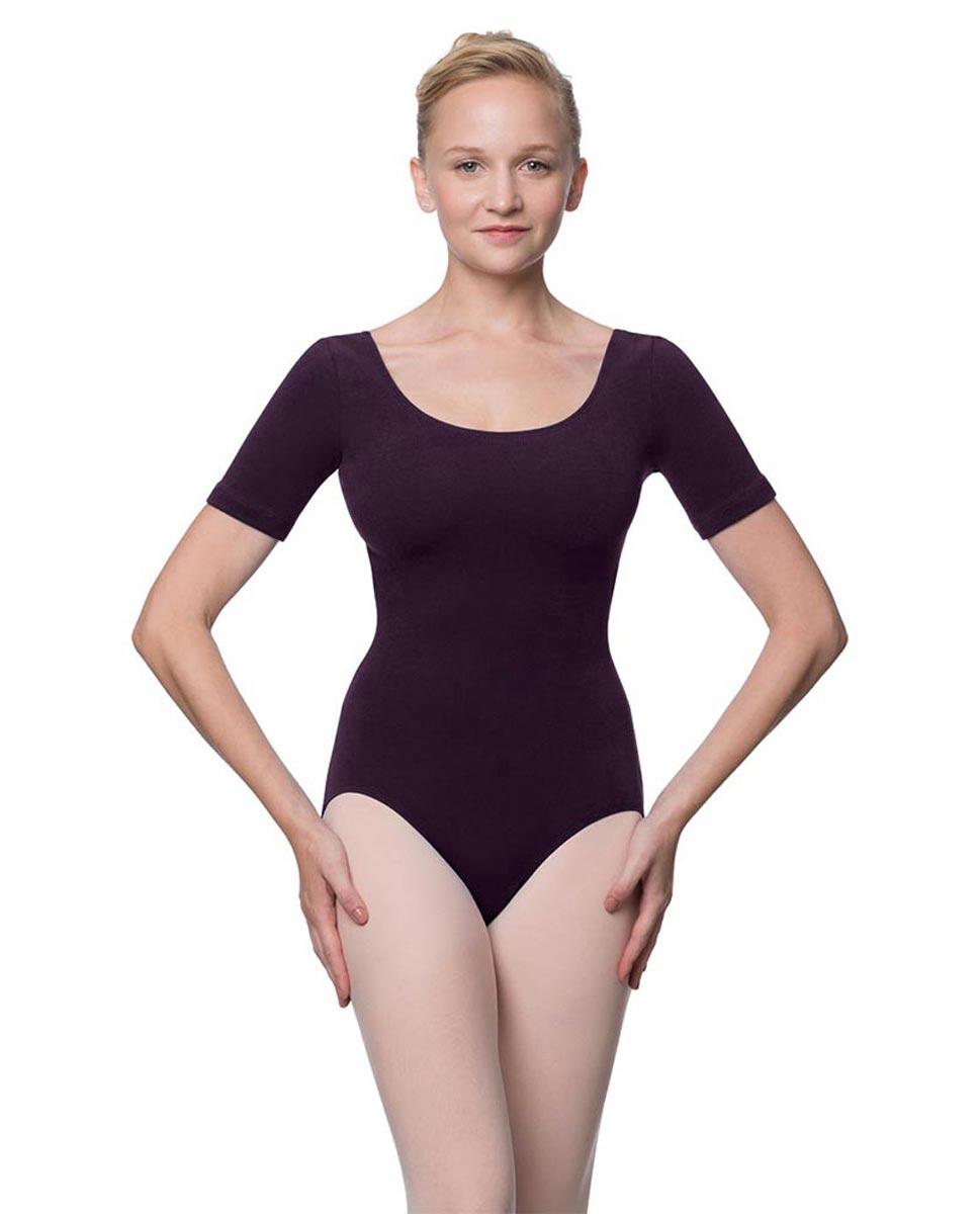 Adults Fitted Short Sleeve Ballet Leotard Lauretta AUB