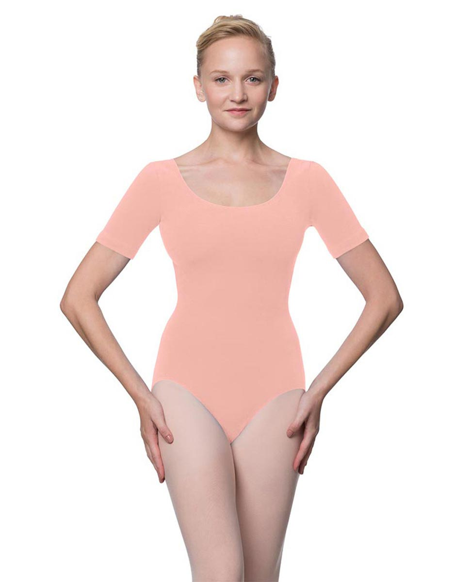 Adults Fitted Short Sleeve Ballet Leotard Lauretta BPINK