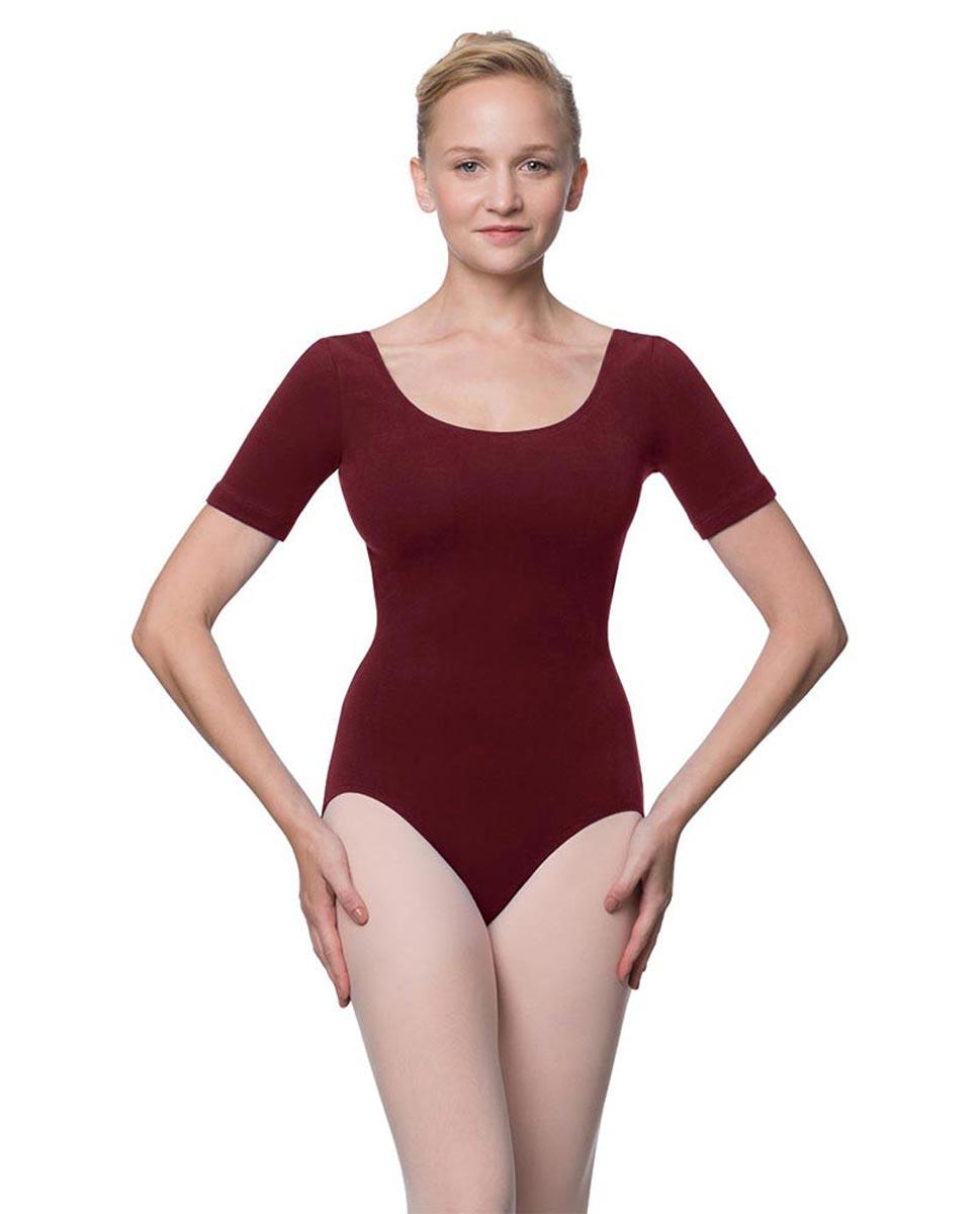 Adults Fitted Short Sleeve Ballet Leotard Lauretta BUR