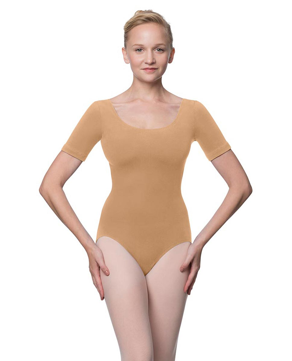 Adults Fitted Short Sleeve Ballet Leotard Lauretta DNUD