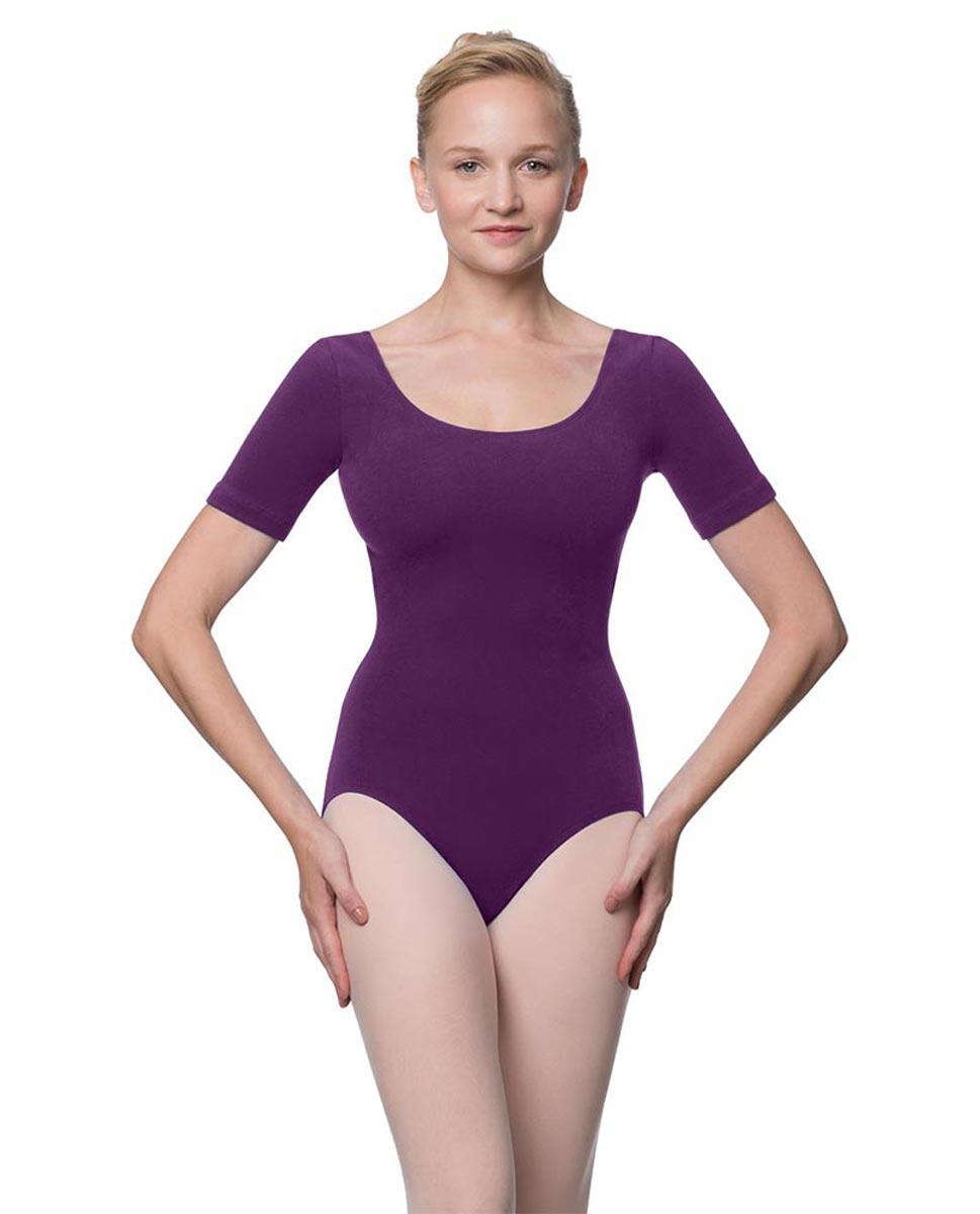 Adults Fitted Short Sleeve Ballet Leotard Lauretta GRAP
