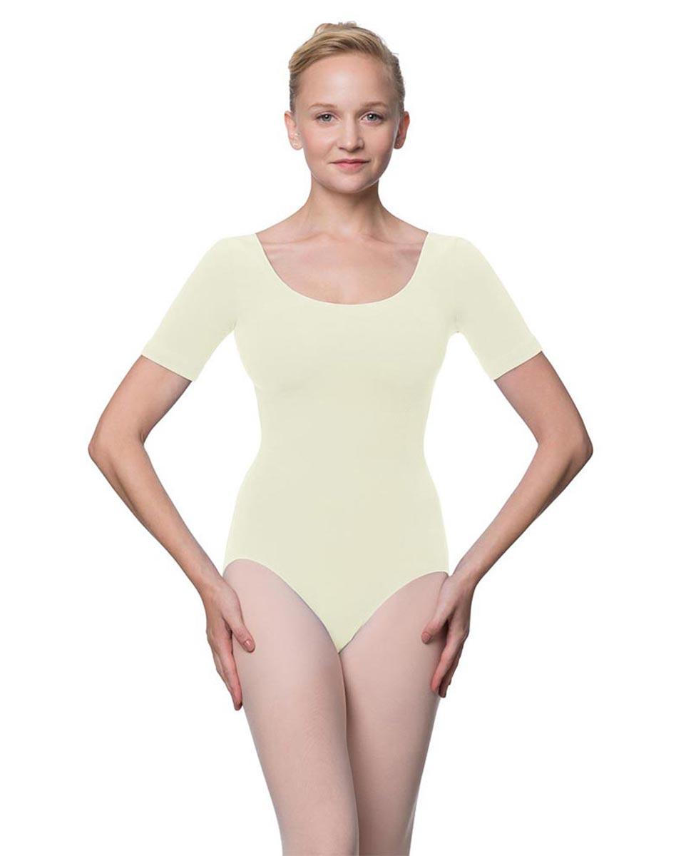 Adults Fitted Short Sleeve Ballet Leotard Lauretta IVOR
