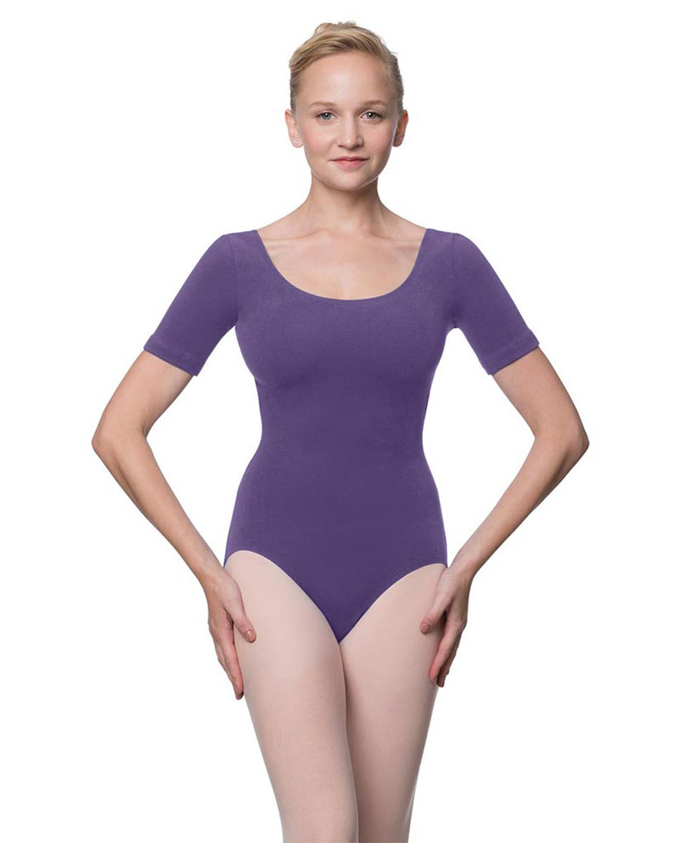 Adults Fitted Short Sleeve Ballet Leotard Lauretta LAV