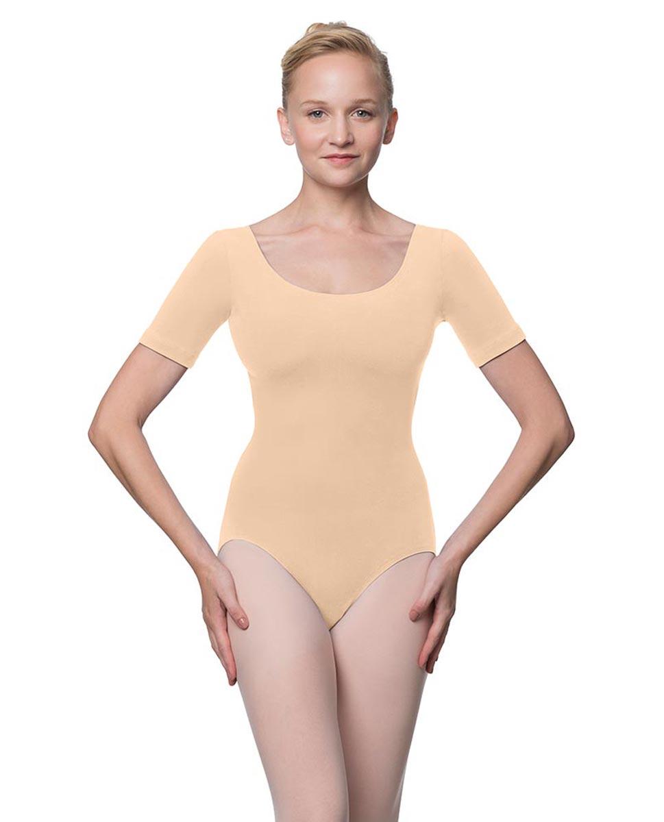 Adults Fitted Short Sleeve Ballet Leotard Lauretta LNUD