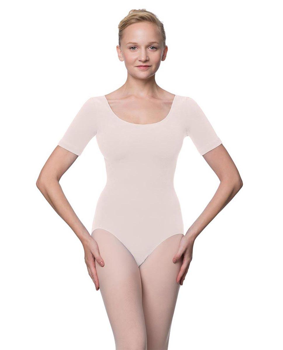 Adults Fitted Short Sleeve Ballet Leotard Lauretta LPNK