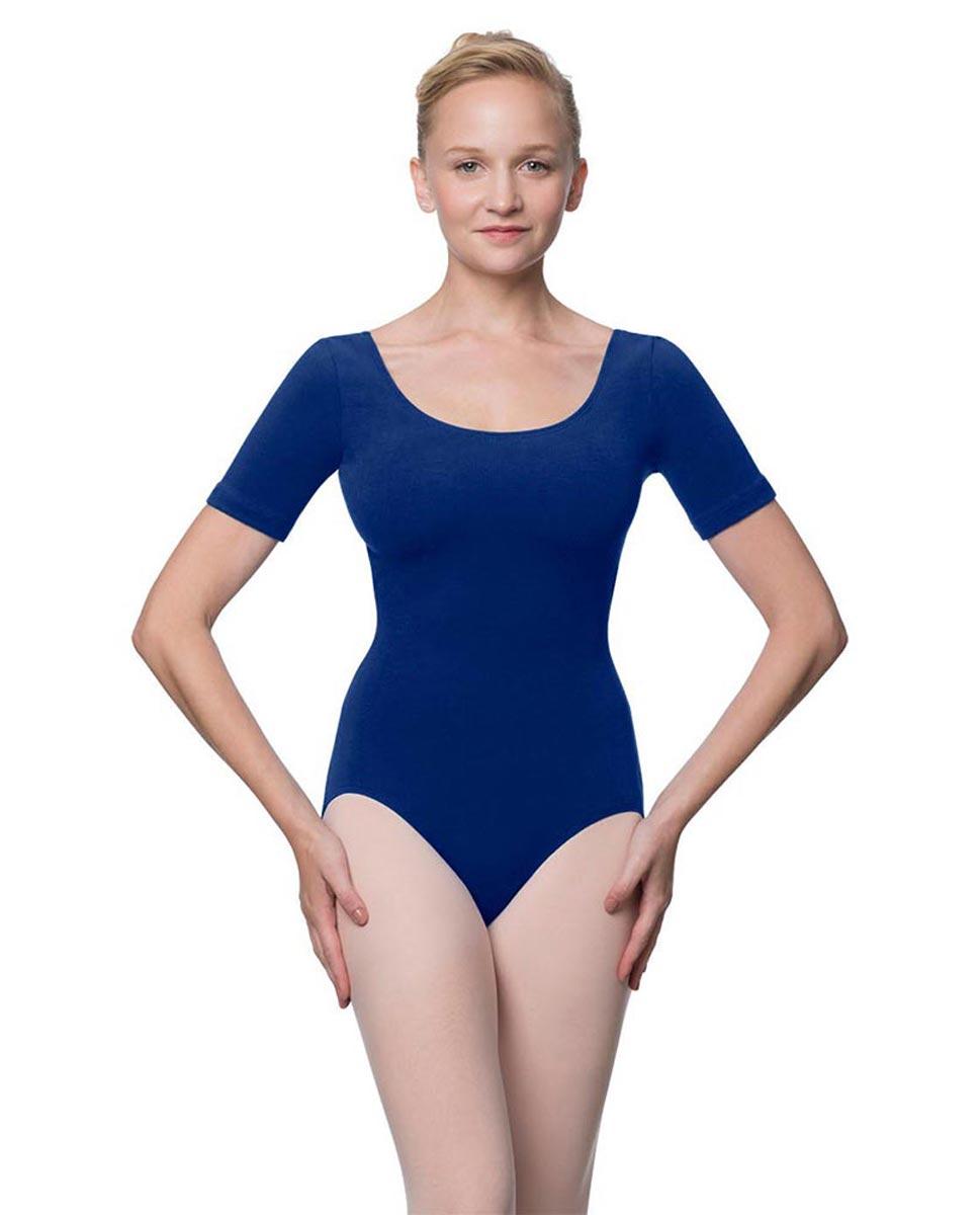 Adults Fitted Short Sleeve Ballet Leotard Lauretta UMA