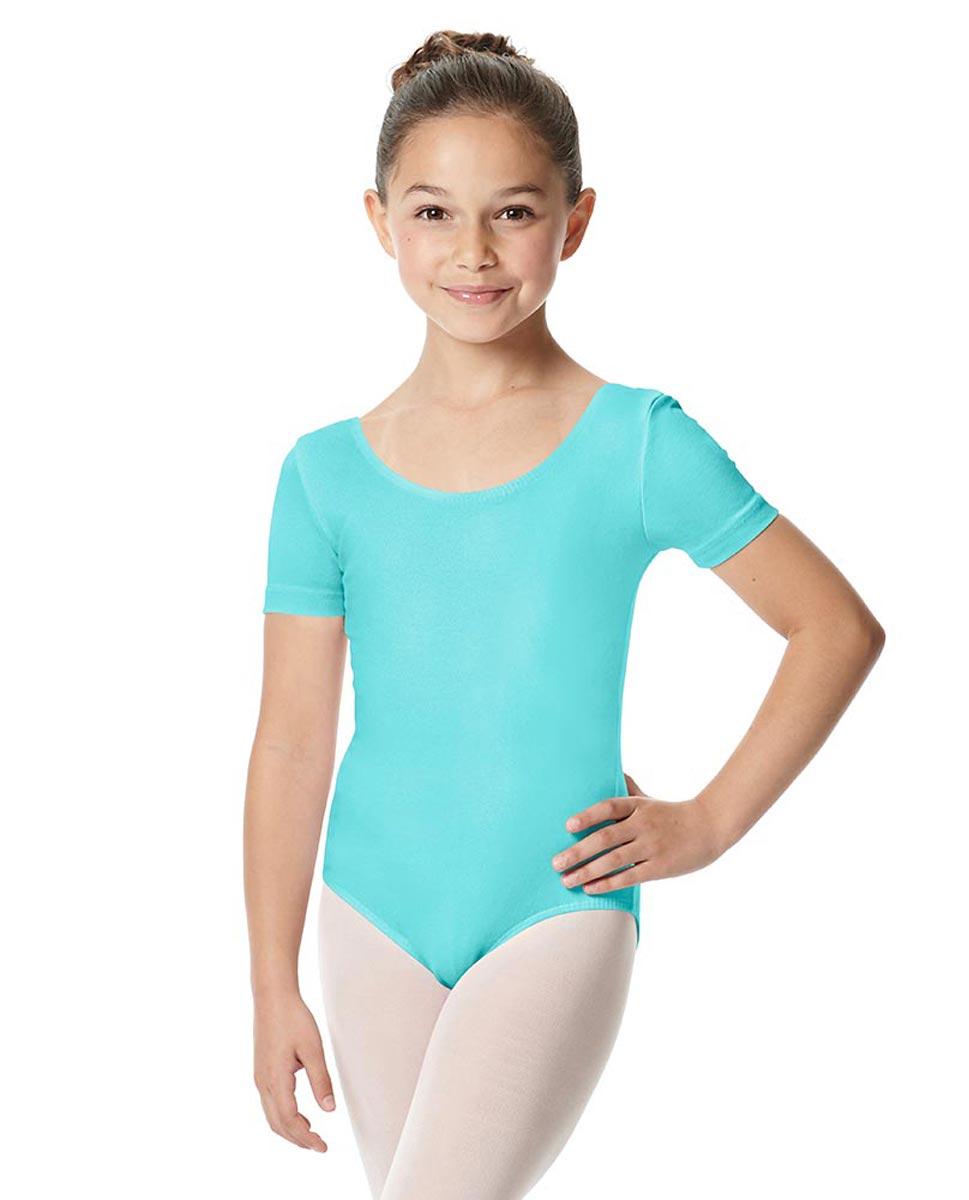 Child Short Sleeve Ballet Leotard Lauretta AQU