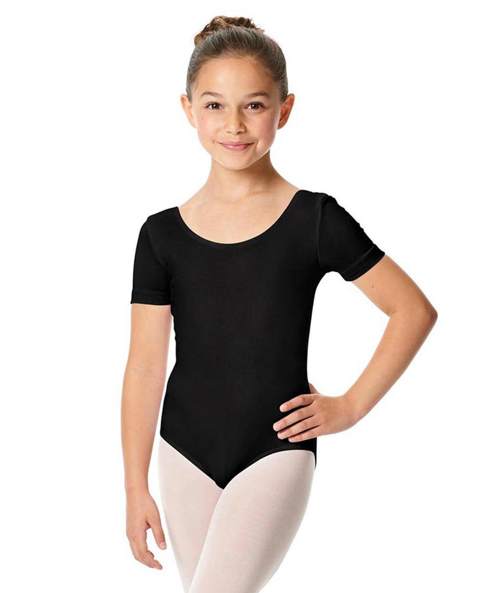 Child Short Sleeve Ballet Leotard Lauretta BLK