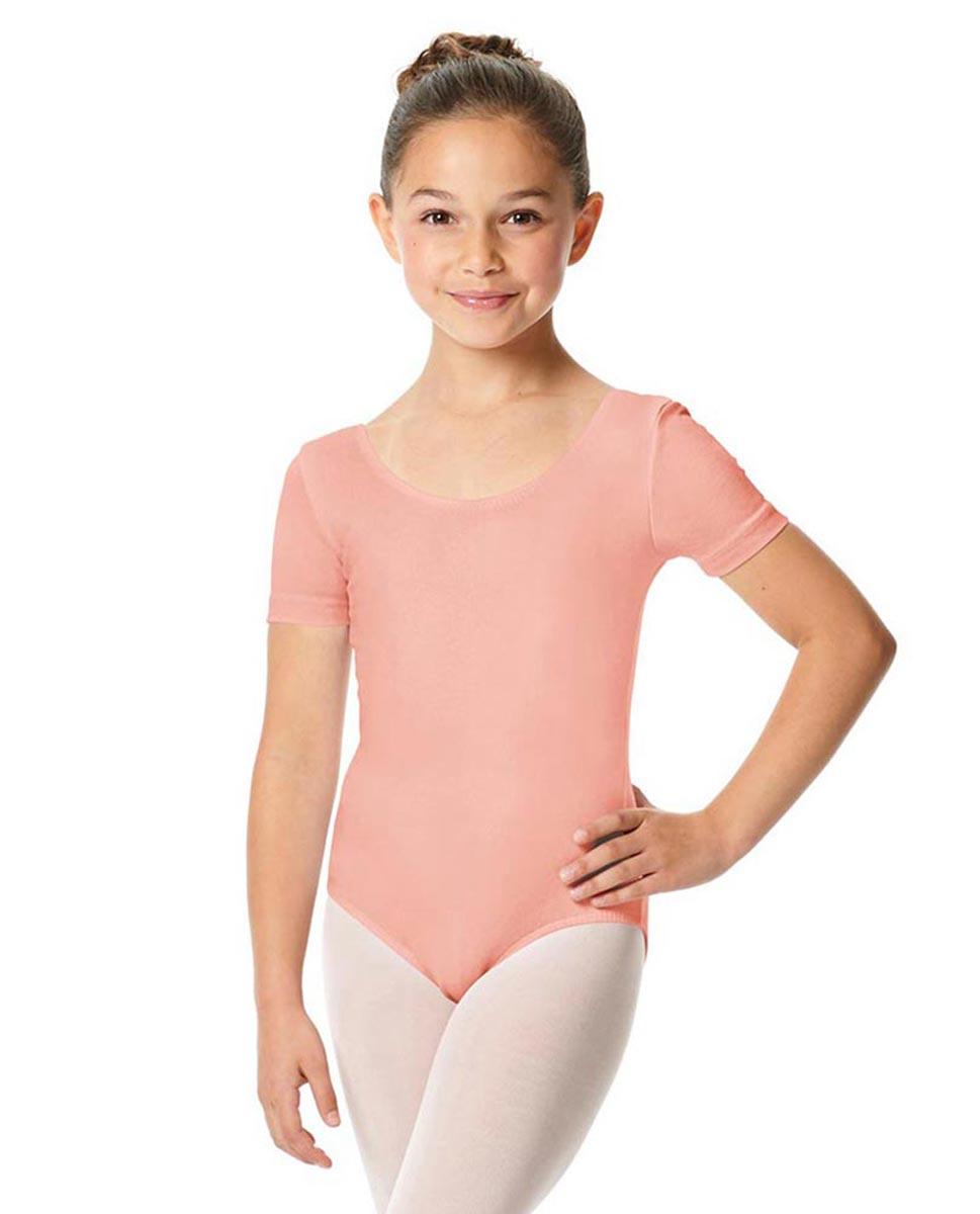Child Short Sleeve Ballet Leotard Lauretta BPINK