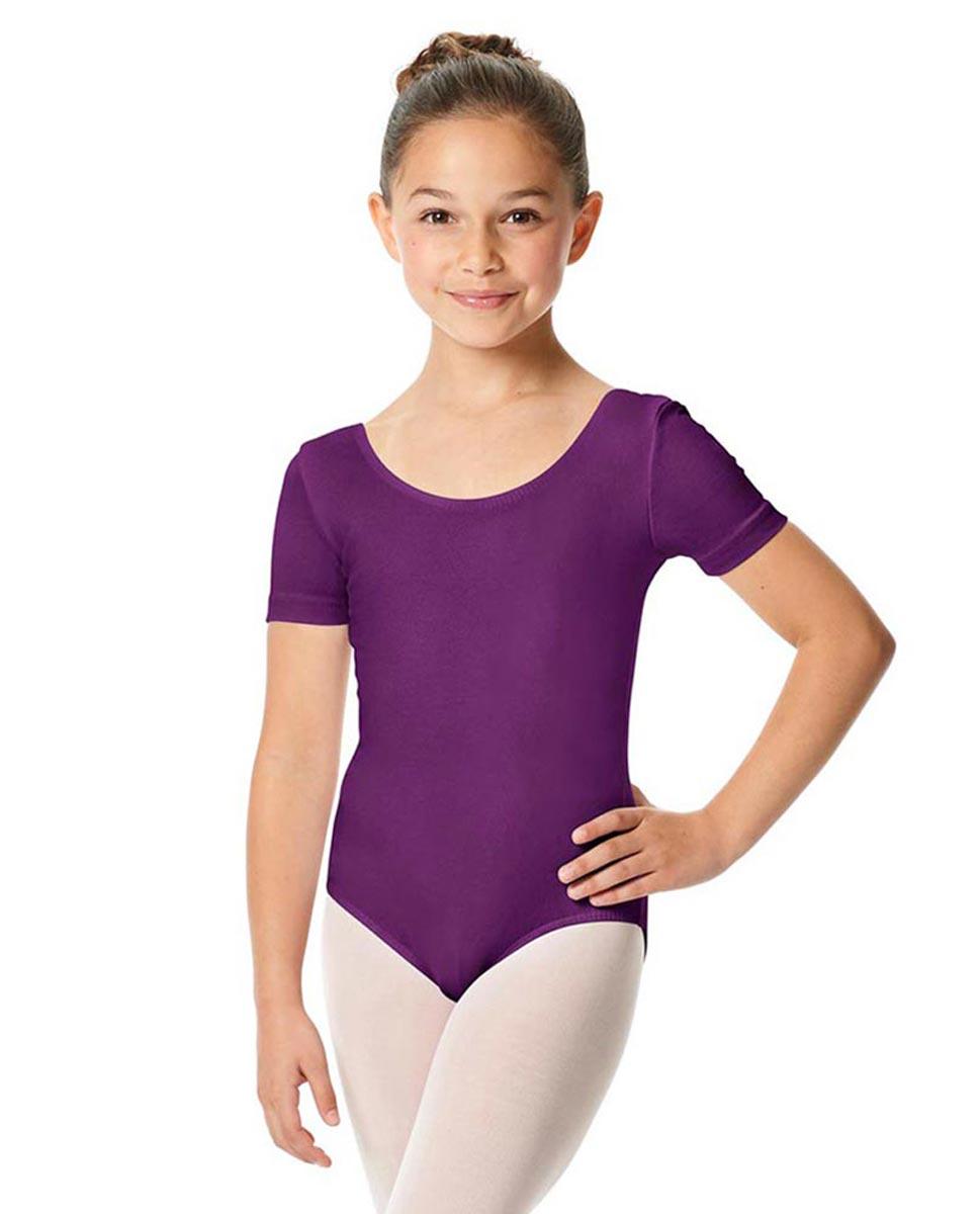 Child Short Sleeve Ballet Leotard Lauretta GRAP
