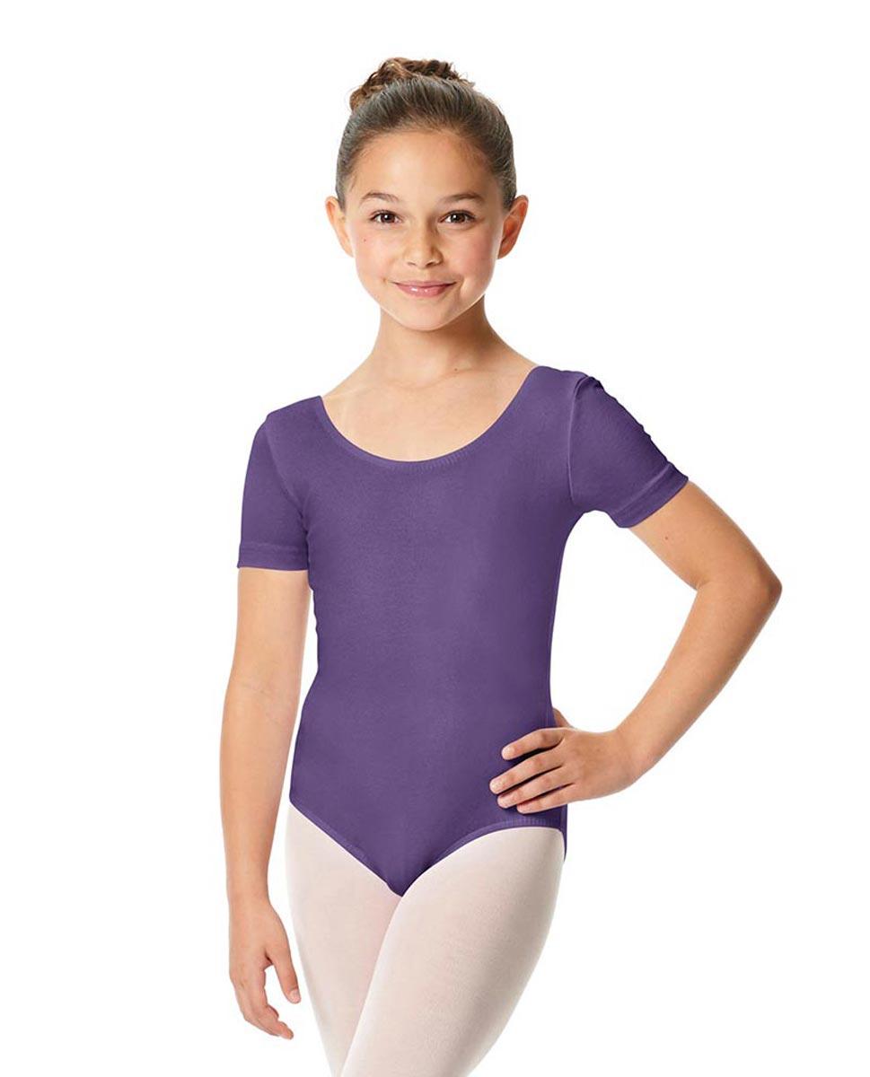 Child Short Sleeve Ballet Leotard Lauretta LAV