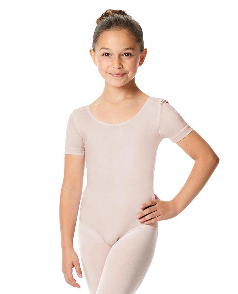 Child Short Sleeve Ballet Leotard Lauretta LPNK