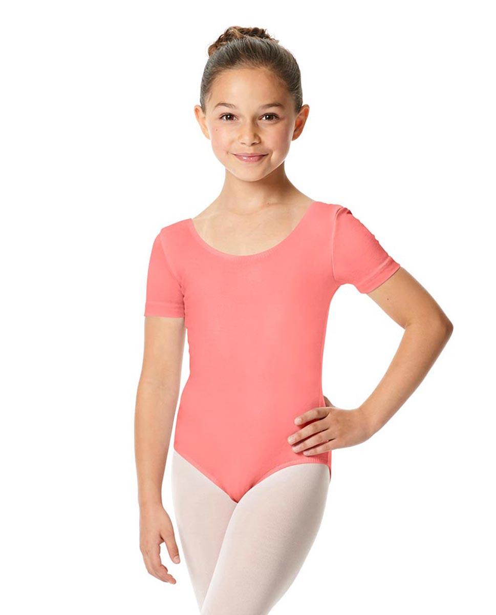 Child Short Sleeve Ballet Leotard Lauretta PEAC